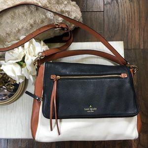 Kate Spade Tri-Color Leather Satchel